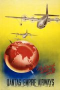 Vintage Travel Poster Qantas Empire Airways